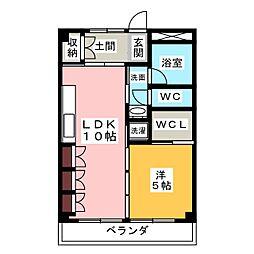 トキワハイツ[3階]の間取り