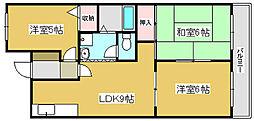 兵庫県加古川市別府町石町の賃貸マンションの間取り