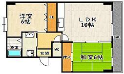 K-FLAT MORE[205号室]の間取り