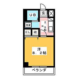 シャトー横山壱番館[2階]の間取り