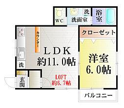 mi casa de 汐入[201号室]の間取り