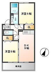 ホクトA[1階]の間取り