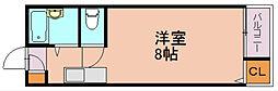 メゾントゥハート[1階]の間取り
