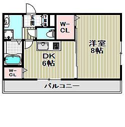リヴェール鳳[4階]の間取り