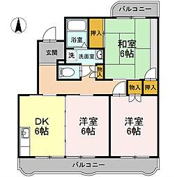 ゆーかりI[2階]の間取り