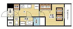 スプランディッド新大阪DUE[3階]の間取り