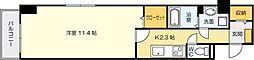 パークレーン香春口[1階]の間取り