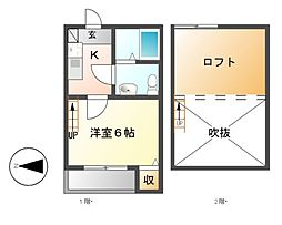 コンパートハウス高畑[1階]の間取り