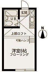 エコルステージ東白楽[102号室]の間取り