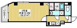 東京メトロ銀座線 浅草駅 徒歩10分の賃貸マンション 5階1Kの間取り