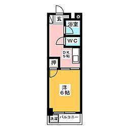 コーポ松永[5階]の間取り