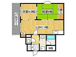 みのりハイツ[4階]の間取り