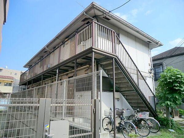 東京都大田区大森東1丁目の賃貸アパートの外観