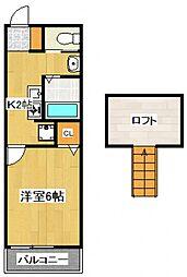 ピソリベルタII[2階]の間取り