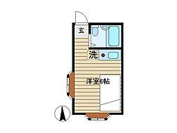 埼玉県入間郡三芳町藤久保の賃貸アパートの間取り