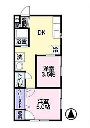 プアン・コンドハウス・ナカジマ[102号室]の間取り