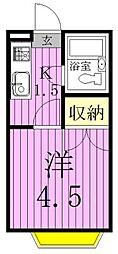 ジョイフル松戸[102号室]の間取り