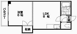 円山ハイム 秋のワンコインキャンペーン対象物件[203号室]の間取り