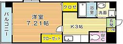 福岡県北九州市小倉北区鋳物師町の賃貸マンションの間取り