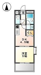 ライオンズマンション徳川 111号室[1階]の間取り