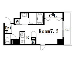 パラドール・K[3階]の間取り