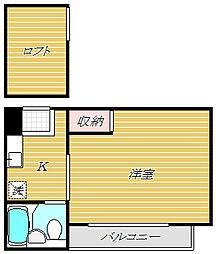 シティープラザ新丸子[2階]の間取り
