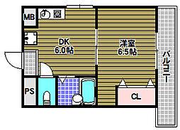 アーバンドゥ金剛[2階]の間取り