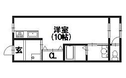 (有)富士マンション[302号室]の間取り