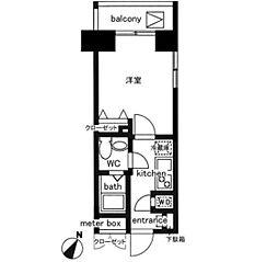 レジディア日本橋人形町II[3階]の間取り