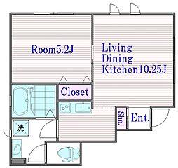 埼玉県さいたま市浦和区岸町3丁目の賃貸アパートの間取り