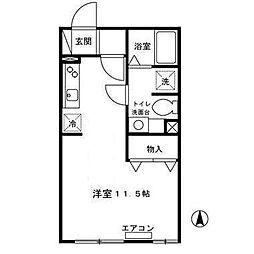 モーニンググローリーA[2階]の間取り
