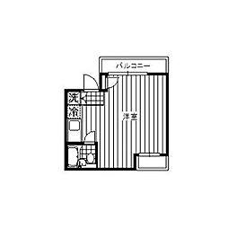 トーシンハイツ東林間[2階]の間取り