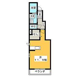 トワエモア[1階]の間取り