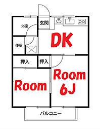 神奈川県横浜市鶴見区獅子ケ谷1丁目の賃貸アパートの間取り