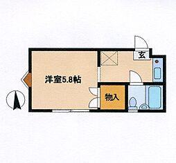 神奈川県横浜市緑区青砥町の賃貸アパートの間取り