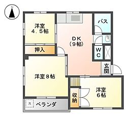辻広第二ビル[2階]の間取り