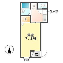 ションテ・ファオン・大野木[2階]の間取り