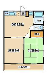 東京都府中市是政1丁目の賃貸アパートの間取り