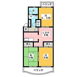 セゾン徳重[2階]の間取り