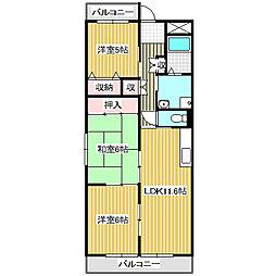 愛知県名古屋市港区高木町3の賃貸マンションの間取り
