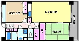 兵庫県神戸市東灘区御影2丁目の賃貸マンションの間取り