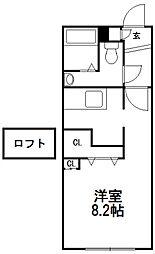 S−FORT学園前(旧:モデュロール学園前)[402号室]の間取り