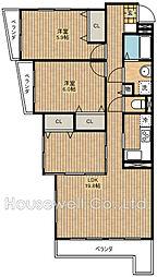 第13藤島マンション[2階]の間取り