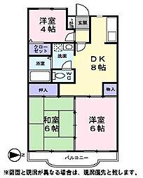 パークヒル山手台[3階]の間取り