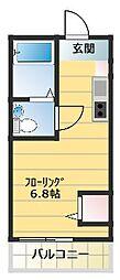 コートリーハウス横浜和田町[302号室]の間取り
