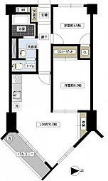 日生野沢マンション[2F号室]の間取り