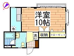 メルヴェーユ松楓[102号室]の間取り