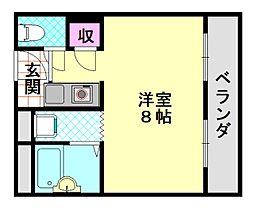 平野エアクリアロイヤルハイツ[501号室]の間取り