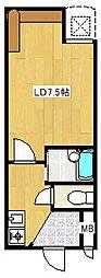 ジョリーフローラ[7階]の間取り