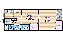 ユニライフマンション[2階]の間取り